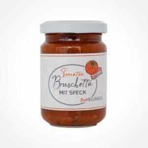 Tomaten Bruschetta mit Speck