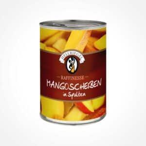 Mango-Scheiben in Spalten