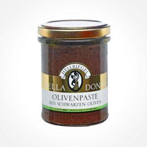 Olivenpaste aus schwarzen Oliven